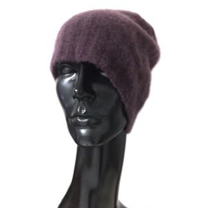 JAMES PERSE Purple Cashmere Hat/OS